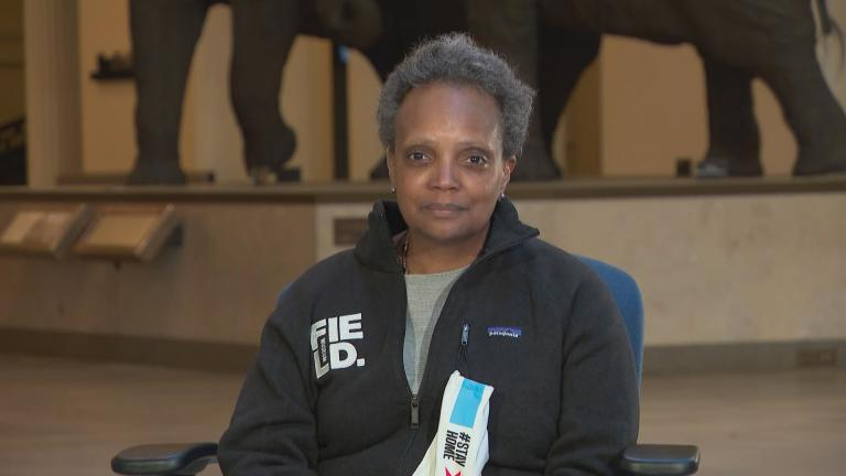 Chicago Mayor Lori Lightfoot speaks with WTTW News via videoconference on Tuesday, April 28, 2020.