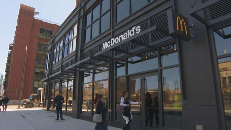 Opening day on April 25, 2018, of the McDonald's restaurant inside the company's new West Loop headquarters.