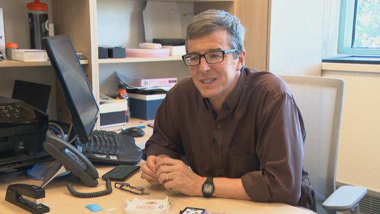 John Rogers, who leads the Center for Bio-Integrated Electronics at Northwestern University. (WTTW News)