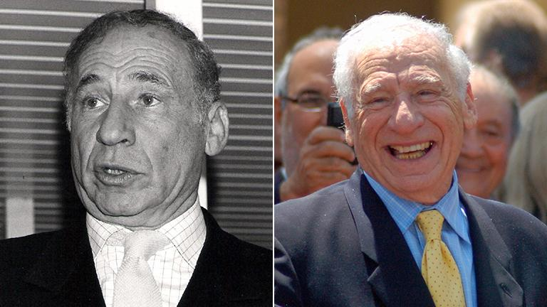 Mel Brooks. (Photo credit, from left: Towpilot, Angela George / Wikimedia Commons)