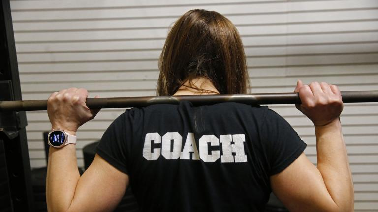 Melissa Breaux Bankston, a CrossFit athletic trainer at CrossFit Algiers in New Orleans, poses for a portrait at the gym Monday, Dec. 23, 2019. She participates in an intermittent fasting diet. (AP Photo / Gerald Herbert)