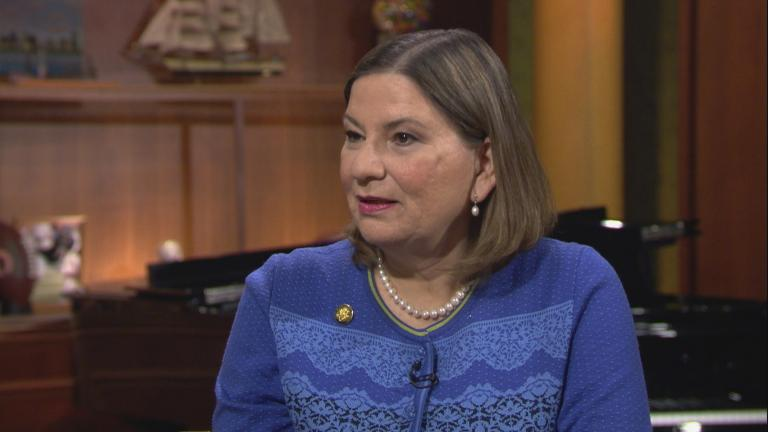 "Martha Bárcena, Mexico's ambassador to the U.S., appears on ""Chicago Tonight"" on Tuesday, Oct. 15, 2019."