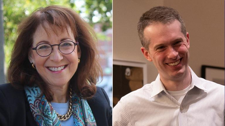 Aldermanic candidates for the 43rd Ward: Incumbent Ald. Michele Smith and Derek Lindblom.