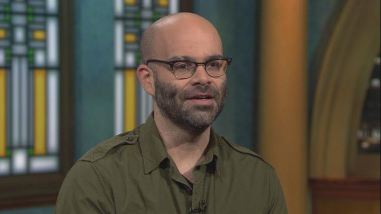 """Super Pumped"" author Mike Isaac, a reporter for The New York Times, appears on ""Chicago Tonight."" (WTTW News)"