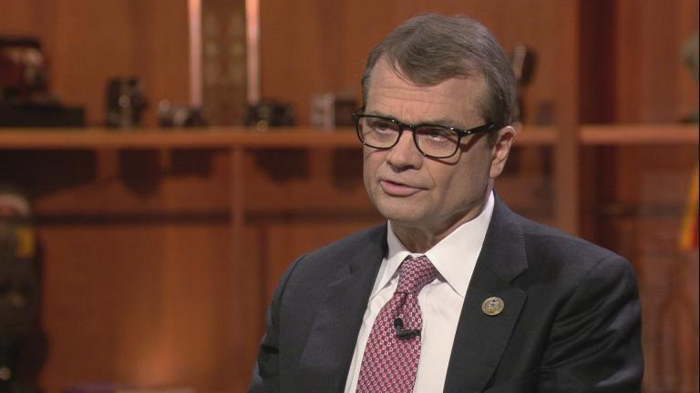 "U.S. Rep. Quigley appears on ""Chicago Tonight"" on Nov. 25, 2019. (WTTW News)"