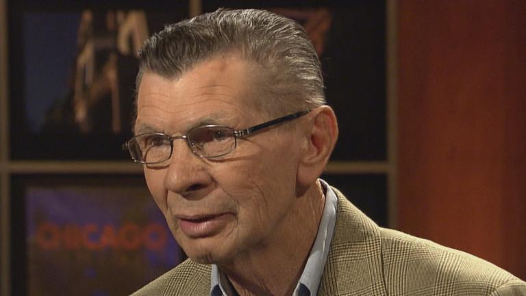 "Stan Mikita appears on ""Chicago Tonight"" in 2011."