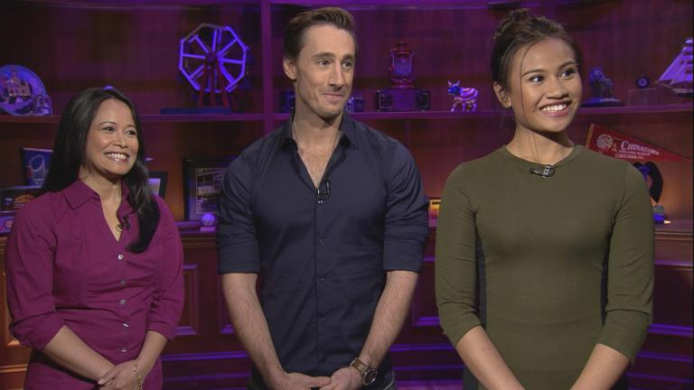 "From left: ""Miss Saigon"" stars Christine Bunuan, Anthony Festa and Emily Bautista appear on ""Chicago Tonight."""