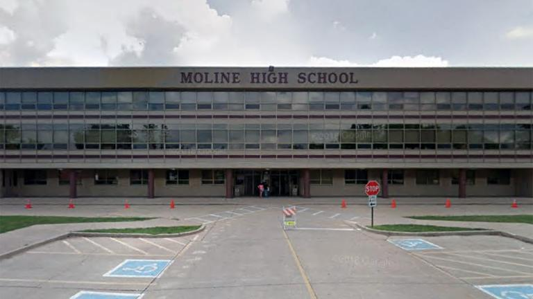 Moline High School, 3600 Avenue of the Cities. (Google Maps)