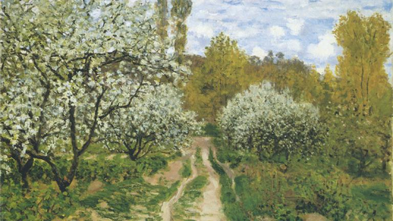 Pommiers en fleurs (Apple Trees in Blossom) 1872, Claude Monet