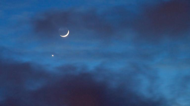 The moon and Venus are in conjunction, as seen in this image from 2015. (Tuchodi / Flickr)