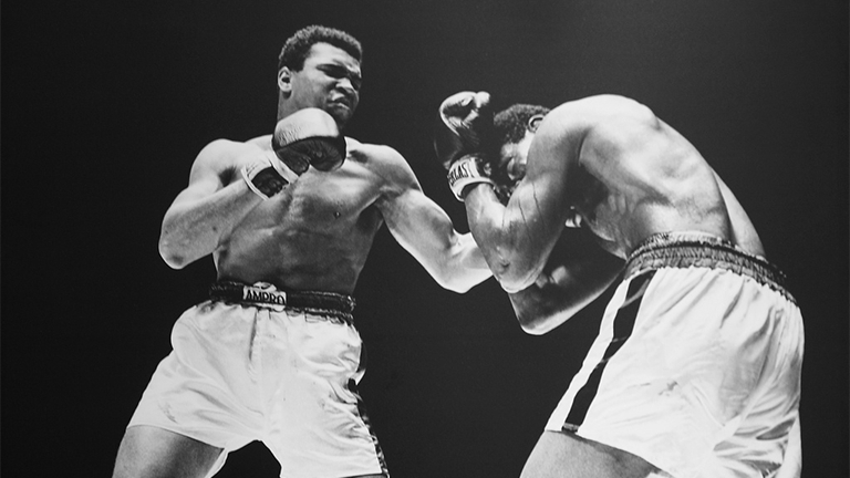 Muhammad Ali versus Ernie Terrell at the Houston Astrodome in 1967. (Cliff / Flickr)