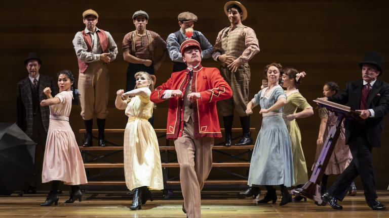 "A scene from ""The Music Man"" at Goodman Theatre, with music and lyrics by Meredith Willson and a book by Meredith Willson and Franklin Lacey, directed by Mary Zimmerman. (Photo by Liz Lauren)"