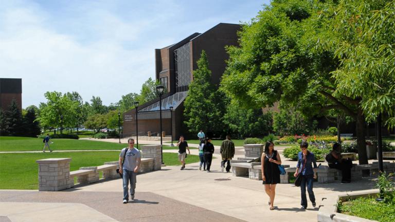 Northeastern Illinois University's campus in Chicago's North Park neighborhood (Courtesy Northeastern Illinois University)