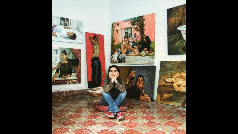 Mexican painter Carmen Chami's work is featured at the National Museum of Mexican Art (Courtesy NMMA)