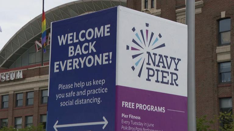After weeks of being closed, Navy Pier prepares on Tuesday, June 9, 2020 for its partial reopening. (WTTW News)