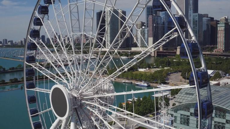The Ferris wheel at Navy Pier (WTTW News)