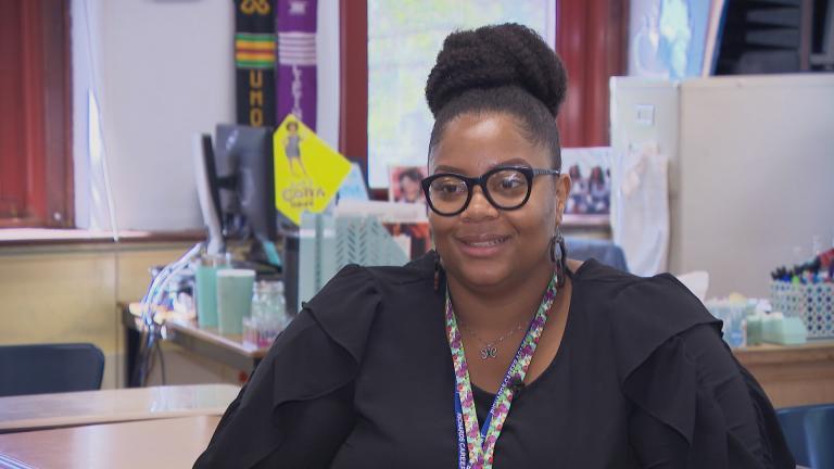 Chicago Public Schools teacher Asia-Ana Williams (Chicago Tonight)