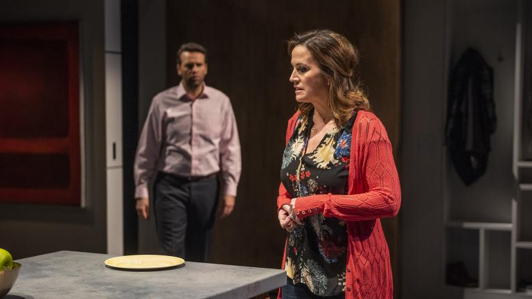 "David Schlumpf and Keely Vasquez in ""Next to Normal"" at Writers Theatre. (Photo credit: Michael Brosilow)"