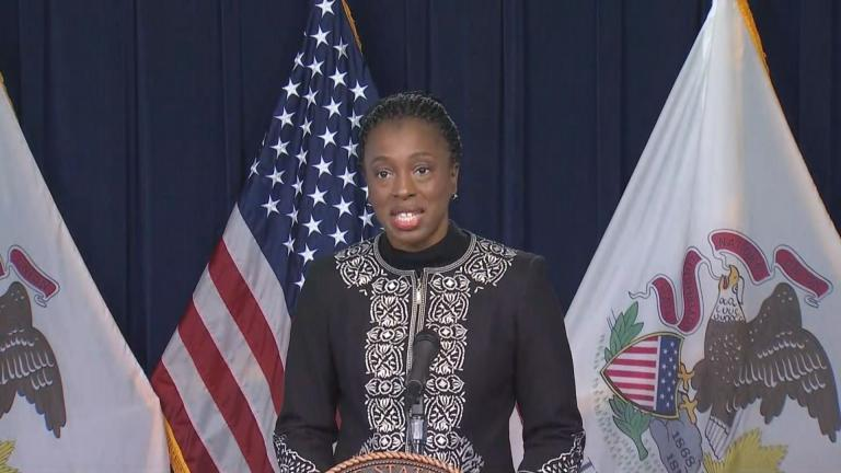 Illinois Department of Public Health Director Dr. Ngozi Ezike speaks Wednesday, Nov. 4, 2020 about the state of the coronavirus in Illinois. (WTTW News)
