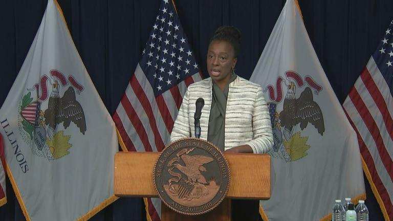 Illinois Department of Public Health Director Dr. Ngozi Ezike talks Wednesday, Dec. 2, 2020 during the state's daily COVID-19 briefing. (WTTW News)