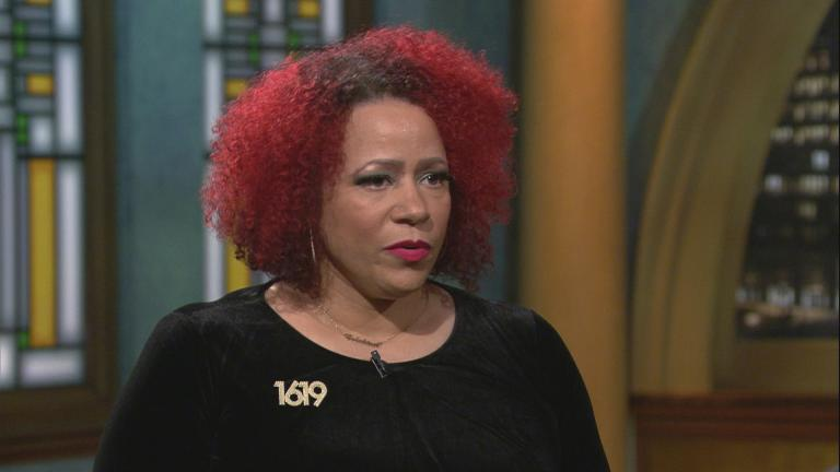 "Journalist Nikole Hannah-Jones appears on ""Chicago Tonight."" (WTTW News)"
