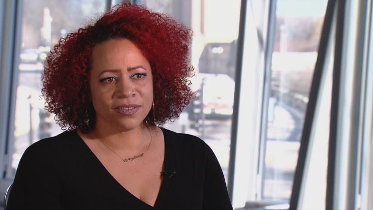Nikole Hannah-Jones speaks with Brandis Friedman. (WTTW News)