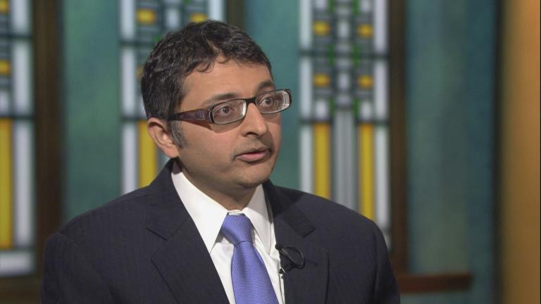 "Illinois Public Health Director Dr. Nirav Shah appears on ""Chicago Tonight"" on Jan. 4, 2018 to discuss the state's opioid epidemic."