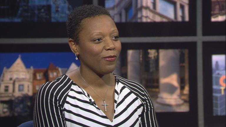 "Nneka Jones Tapia appears on ""Chicago Tonight"" on Nov. 2, 2017."