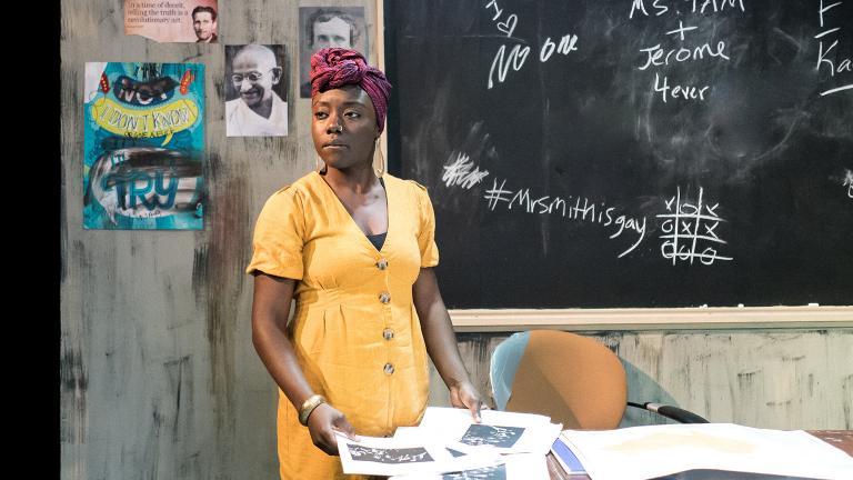 """Adia Alli in Definition Theatre Company's production of """"No Child…"""" (Credit: Joe Mazza_Brave Lux, Inc.)"""