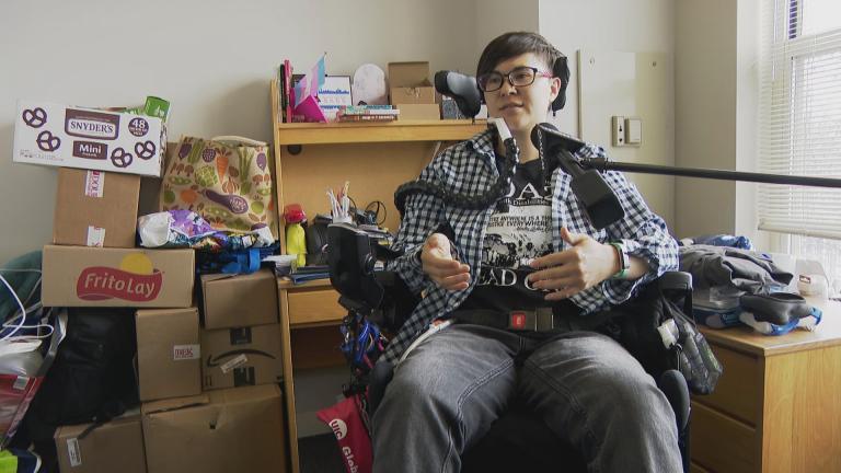 UIC student Noah Ohashi speaks with WTTW News.