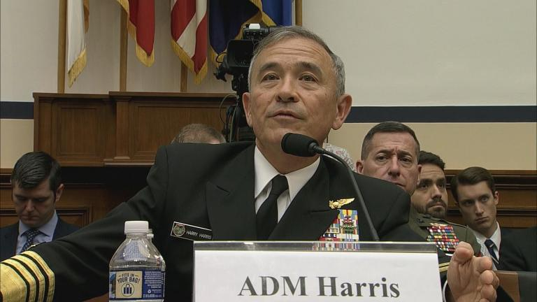 """""""We have to look at North Korea as if Kim Jong-un will do what he says,"""" said Adm. Harry Harris."""