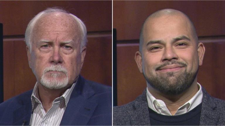 Aldermanic candidates for the 40th Ward: Incumbent Ald. Patrick O'Connor, left, and Andre Vasquez.