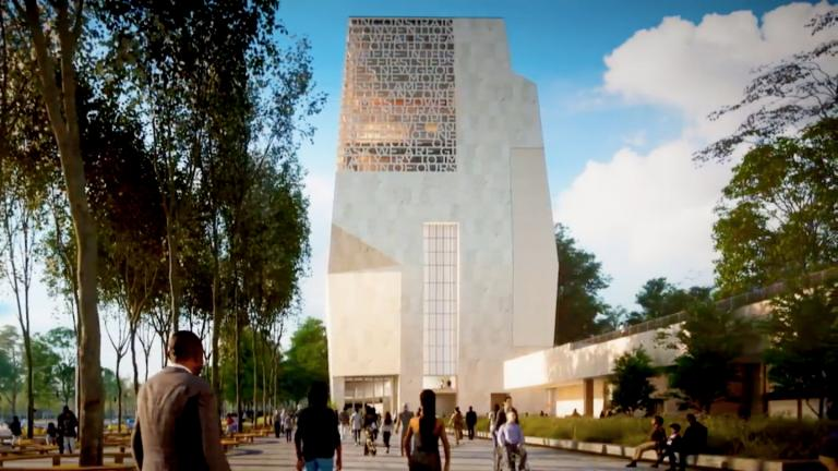 The latest rendering of the Obama Presidential Center tower. (Courtesy of Obama Foundation)