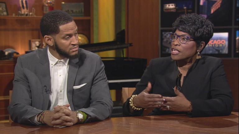 "Anthony Clark and Joylynn Pruitt-Adams appear on ""Chicago Tonight."""