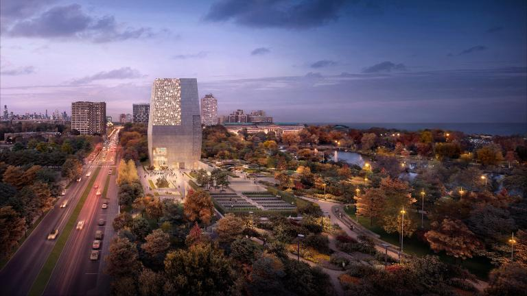 Obama Presidential Center rendering (Image by DBOX)