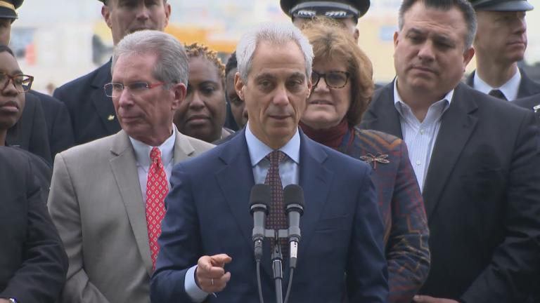 """In signing this agreement today, we are securing and strengthening Chicago's future,"" Mayor Rahm Emanuel told media at O'Hare International Airport on Wednesday, March 28, 2018."