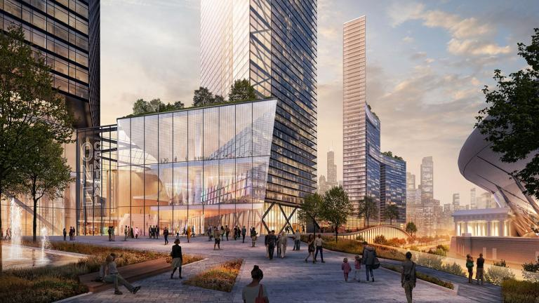 A proposed $19 billion development could transform the area near Soldier Field. (Rendering courtesy Landmark Development)