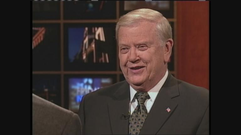 "Orion Samuelson appears on WTTW's ""The Friday Night Show"" in 2003. (WTTW News)"