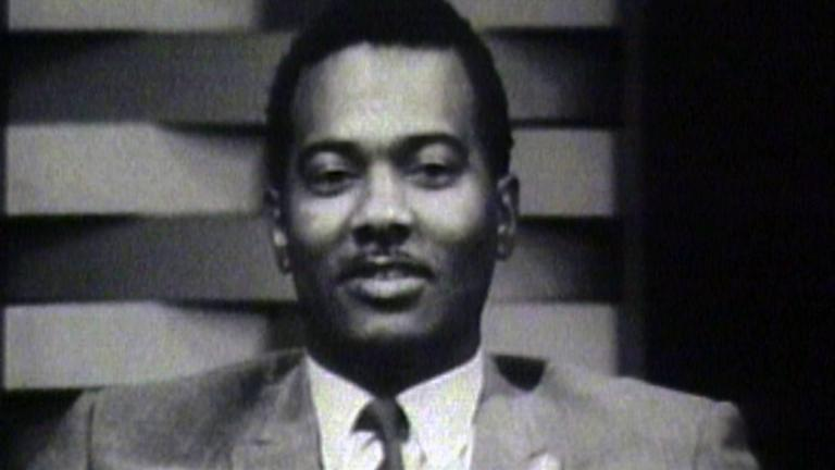 "A still image from video shows the late Jim Tilmon as host of ""Our People."" (WTTW)"