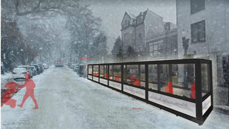 Chicago's winter dining design challenges drew more than 600 submissions. (Courtesy of Edward Peck Design)