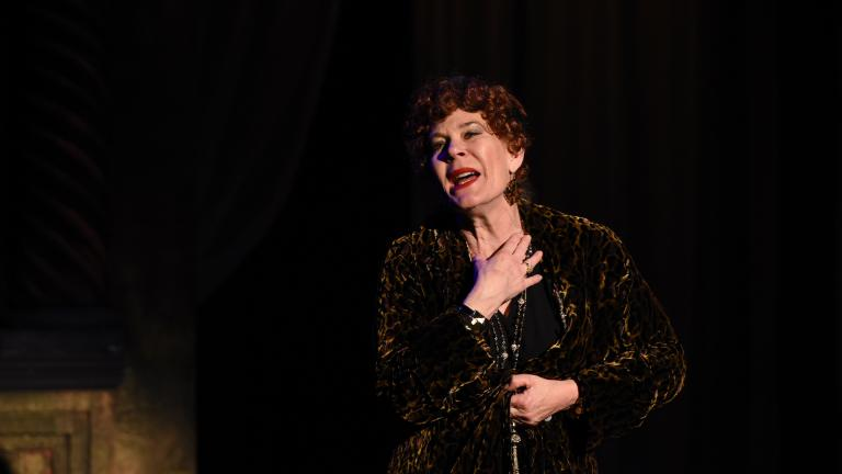 "Hollis Resnik as Norma Desmond in ""Sunset Boulevard"" from Porchlight Music Theatre. (Photo by Michael Courier)"