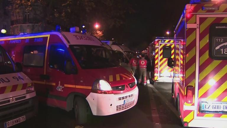 Police and emergency crews respond to terrorist attacks in Paris last Friday.