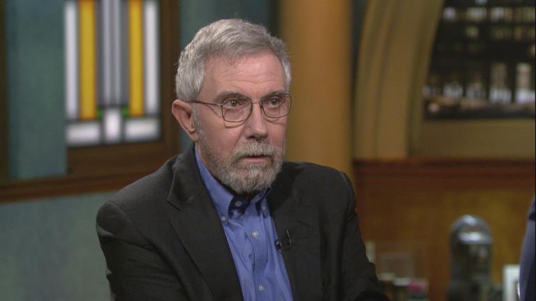 "Paul Krugman appears on ""Chicago Tonight"" on Tuesday, Feb. 25, 2020. (WTTW News)"