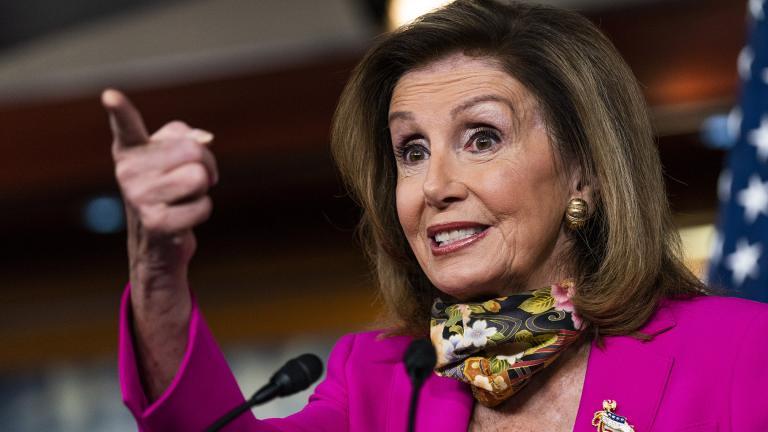 House Speaker Nancy Pelosi of Calif., speaks during a news conference on Capitol Hill, Friday, Sept. 18, 2020, in Washington. (AP Photo / Manuel Balce Ceneta)