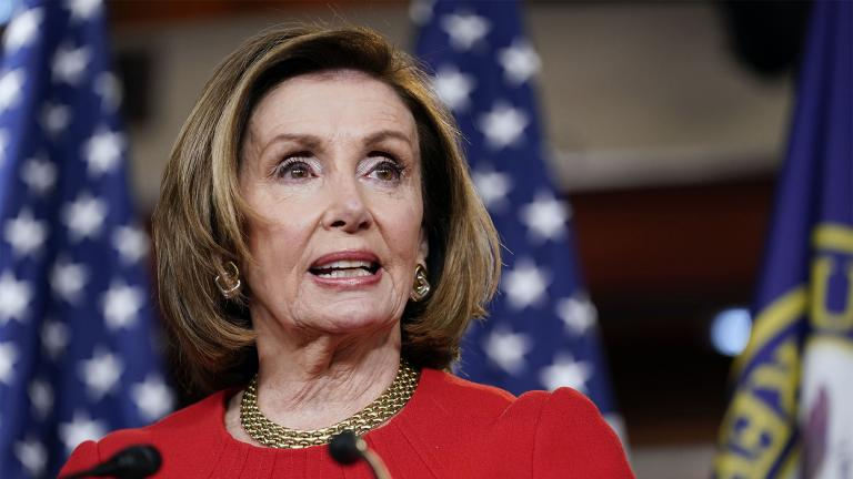 House Speaker Nancy Pelosi of Calif., speaks during a news conference on Capitol Hill in Washington, Thursday, May 13, 2021. (AP Photo / Susan Walsh)