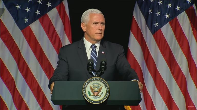 "Vice President Mike Pence: ""The space environment is fundamentally changed in the last generation."""