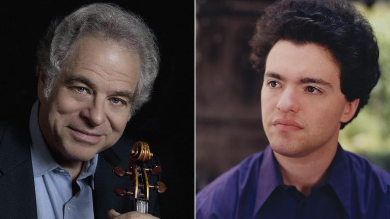 Violinist Itzhak Perlman, left, and pianist Evgeny Kissin. (Credit: Lisa Marie Mazzucco, left, Bette Marshall)