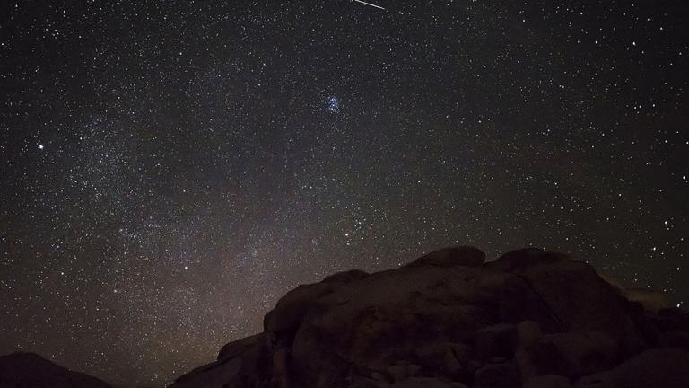 The Perseid meteor shower on Aug. 11, 2015. (Joshua Tree National Park / Wikimedia Commons)