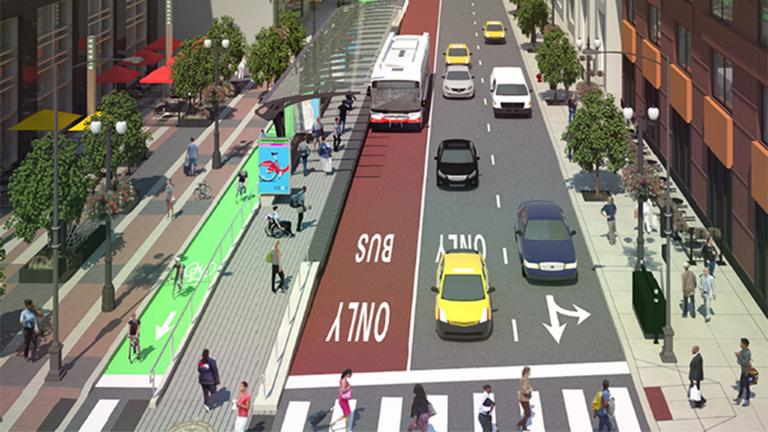 Loop Link rendering (Courtesy Chicago Department of Transportation)