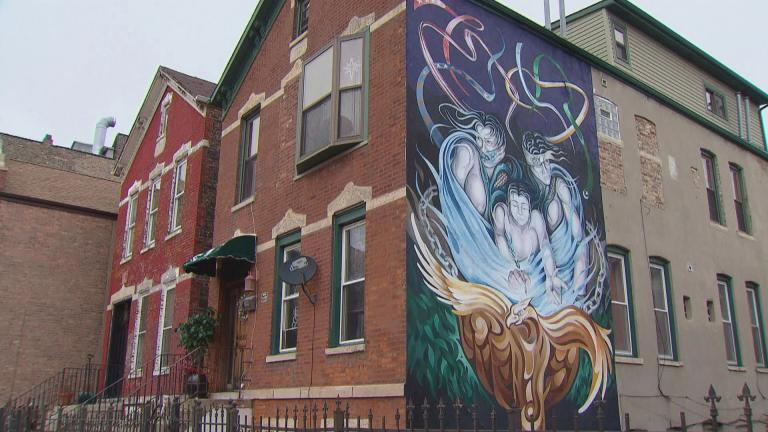 A mural in Pilsen photographed in August 2019. (WTTW News)
